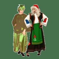 Баба яга и кикимора