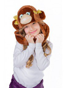 Шапочка обезьянки девочки
