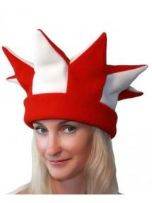 Бело-красная шапка петрушки и скомороха