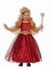 Бордовый костюм королевы для девочки