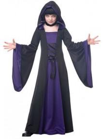 Черно-фиолетовый костюм колдуньи для девочки