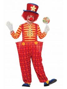 Детский костюм клоуна в красных штанишках