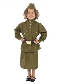 Детский костюм военный гимнастерка с юбкой