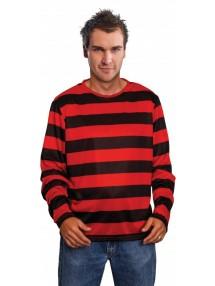 Джемпер красно-черный