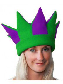 Фиолетово-зеленая шапка петрушки и скомороха