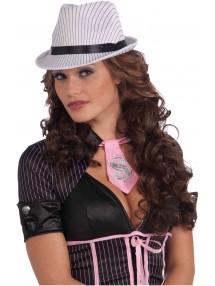 Гангстерская шляпа в бело-черную полоску