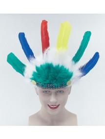 Головной убор индейца перьевой детский