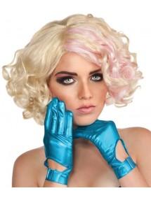 Голубые перчатки леди Гага