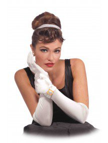 Классические белые перчатки