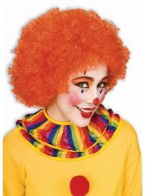 Клоунский парик оранжевый