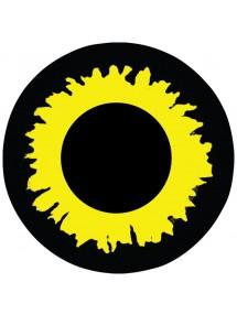 Контактные линзы черно-желтые