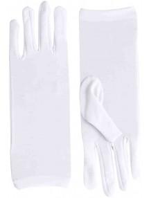 Короткие белые перчатки классика