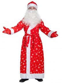 Костюм Дед Мороз для детей тканево-плюшевый