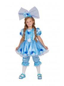 Костюм голубой куклы для девочки