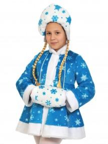 Костюм Снегурочки бирюзовый детский