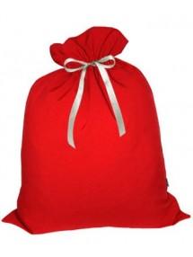 Небольшой подарочный мешок Деда Мороза красный