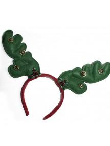 Новогодние зеленые оленьи рожки