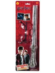 Очки и волшебная палочка из Гарри Поттера