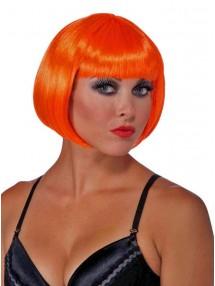 Парик с короткими оранжевыми волосами