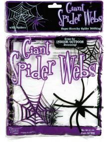Муляж паутины с пауками