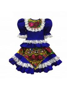 Платье кадриль синие