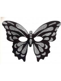 Полумаска серебристой бабочки
