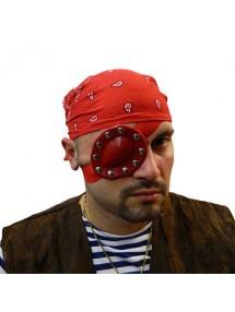 Повязка пирата люкс красная