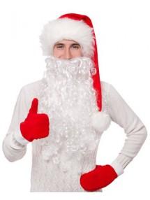Пушистая борода Деда Мороза длинная