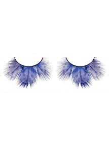 Ресницы - крупные синие перья