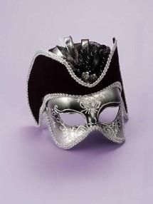 Серебряная венецианская маска на глаза