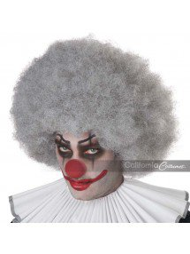 Серый парик клоуна