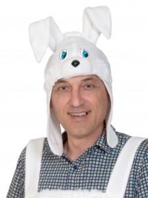 Шапочка-маска зайца для взрослых