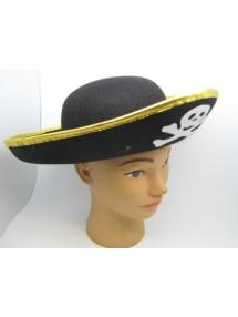 Шляпа пирата фетровая с зол. каймой