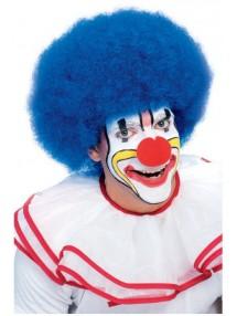 Синий парик веселого клоуна
