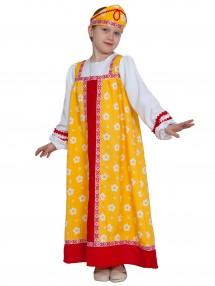 Сказочный костюм Аленушки в желтом