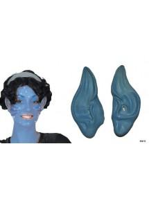Уши Аватара синие
