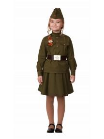Военный костюм для девочки хлопковый
