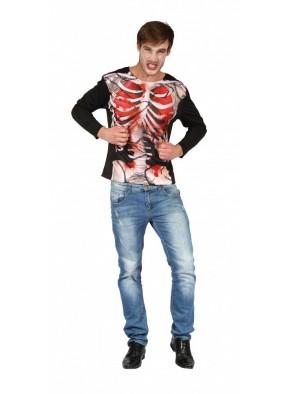 3D футболка скелета