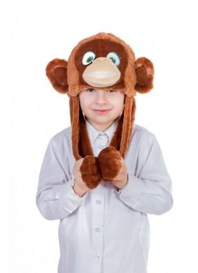 Шапочка обезьянки мальчика