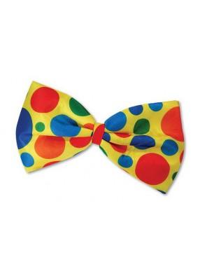 Бабочка Клоуна в разноцветный горошек