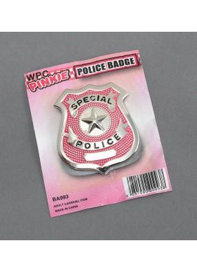Бэйдж полицейского розовый