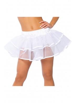 Белая двухслойная юбка 1 фото