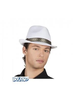 Белая шляпа-федора