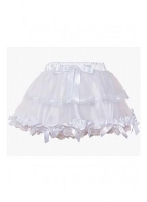 Белая юбка с оборками 1 фото
