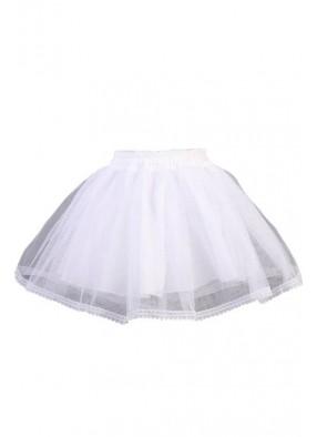 Белая юбка трехслойная 1 фото