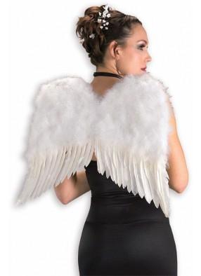 Белые перьевые крылья Deluxe