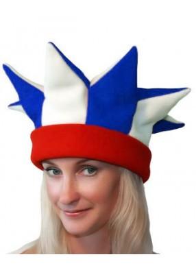 Бело-сине-красная шапка петрушки и скомороха