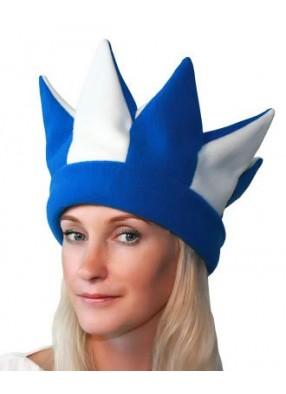 Бело-синяя шапка петрушки и скомороха