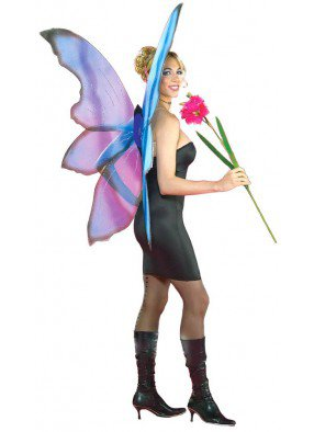 Белые крылья феи-бабочки Deluxe