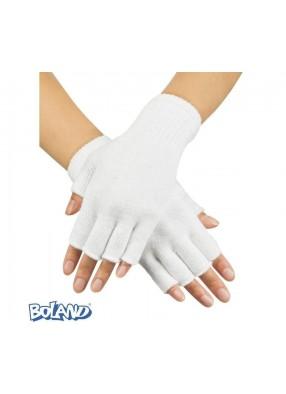 Белые перчатки без пальцев